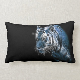 Electric White Tiger Lumbar Pillow
