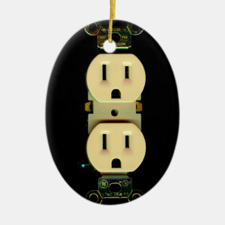 Electrical contractor outlet electricians business ceramic ornament