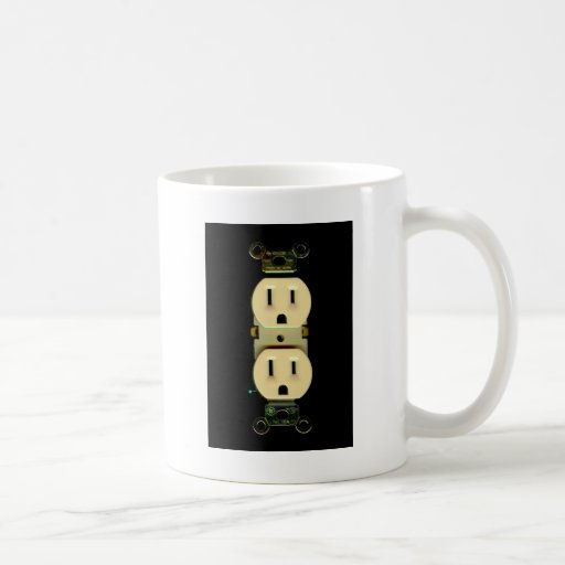 Electrical contractor outlet electricians business classic white coffee mug