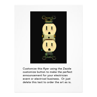 Electrical contractor outlet electricians business flyer