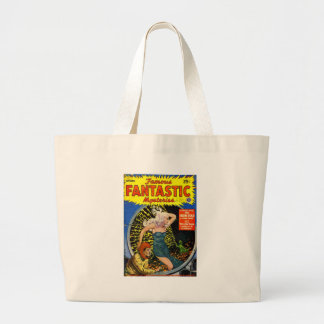 Electrical Dinosaur Large Tote Bag