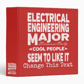 Electrical Engineering College Major Cool People Vinyl Binder