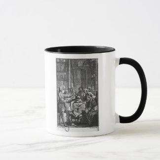 Electrical experiment made on a man mug
