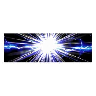 Electrical Lightning Star Burst Mini Business Card