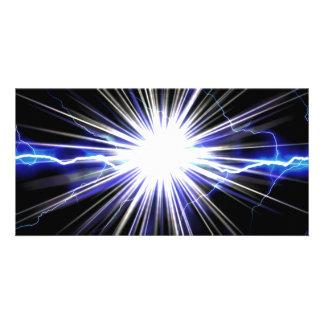 Electrical Lightning Star Burst Photo Card