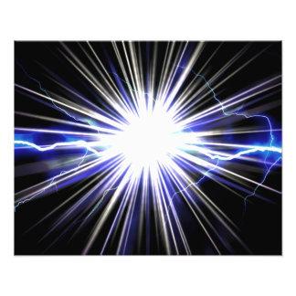 Electrical Lightning Star Burst Photo Art