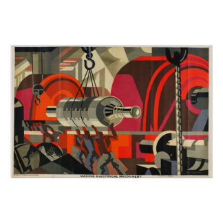 electrical machinery industrial poster