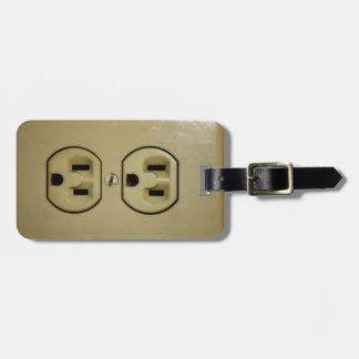 Electrical Outlet Luggage Tag