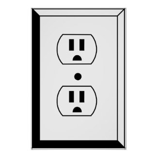 Electrical Outlet or Nerd Art Poster