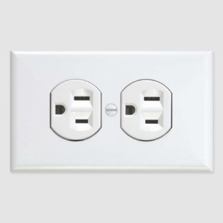 Electrical Outlet Sticker