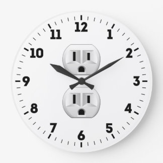 Electrical Plug Outlet on a Large Clock