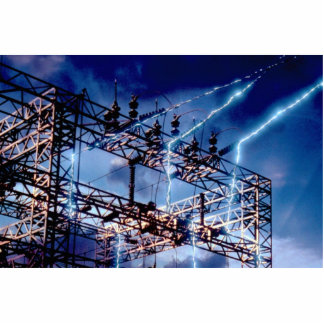 Electrical power substation photo cutouts