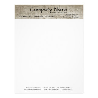 Electrical Schematics Letterhead