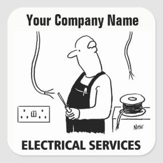 Electrical Services Cartoon Stickers