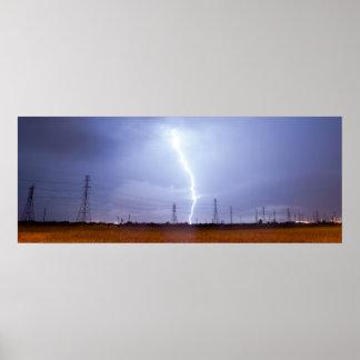 Electrical Storm Thunderstorm Lightning Galveston Poster