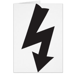 Electrical Symbol thunder Electricity Card
