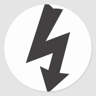 Electrical Symbol thunder Electricity Round Sticker