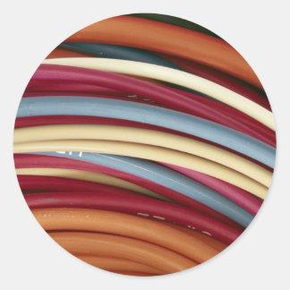 Electrical wire round sticker