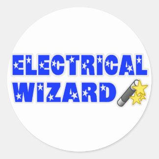 Electrical Wizard Round Sticker