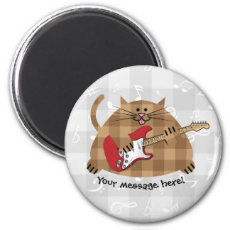 Electricat - Electric Guitar Kitty Musician Magnet