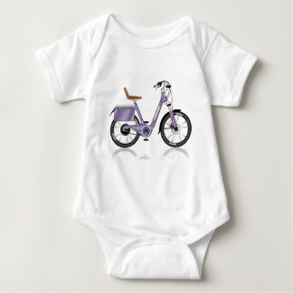 ElectricBicycleVectorDetailed Baby Bodysuit