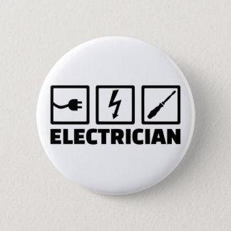 Electrician 2 Inch Round Button