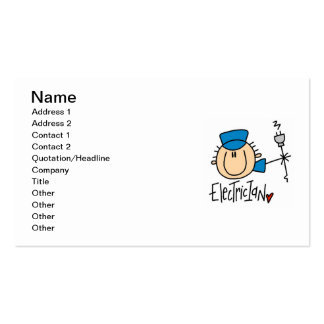 Electrician Double-Sided Standard Business Cards (Pack Of 100)