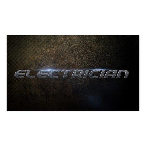 Electrician Business card Modèle De Carte De Visite