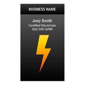 Electrician Business Card Lightning Bolt