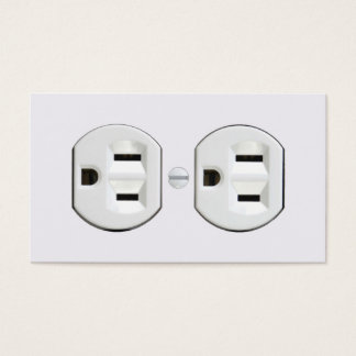 Electrician Business Cards (Electrical Outlet)