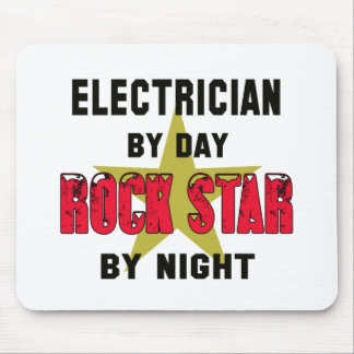 Electrician by Day rockstar by night Mouse Pad