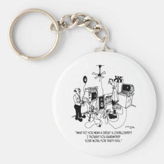 Electrician Cartoon 4427 Basic Round Button Keychain