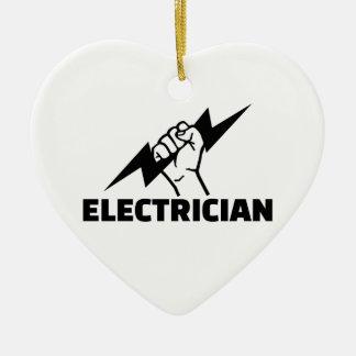 Electrician Ceramic Ornament