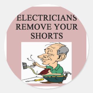 ELECTRICIAN CLASSIC ROUND STICKER