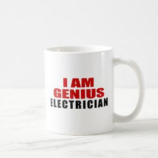 ELECTRICIAN DESIGNS BASIC WHITE MUG