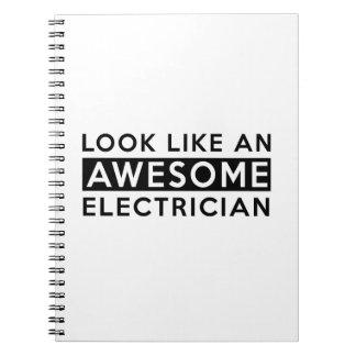 ELECTRICIAN DESIGNS SPIRAL NOTE BOOKS