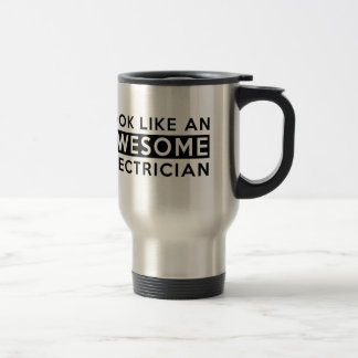 ELECTRICIAN DESIGNS STAINLESS STEEL TRAVEL MUG