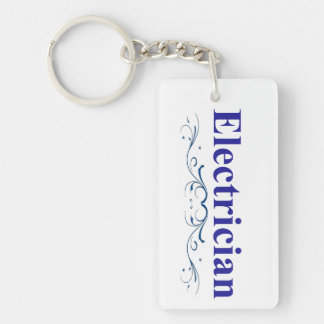 Electrician Double-Sided Rectangular Acrylic Keychain