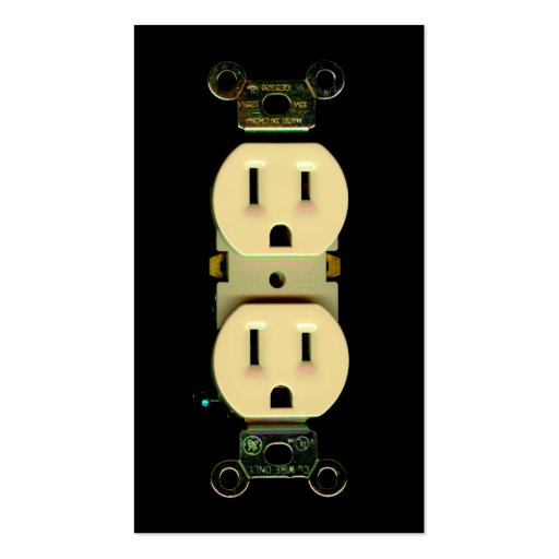 Electrician electric company electrical outlets business card
