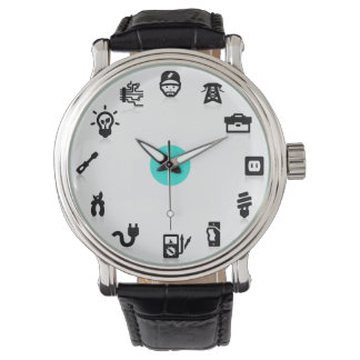 Electrician Electrical Work Icons Blue Dot Watch