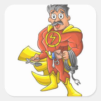 Electrician hero square sticker