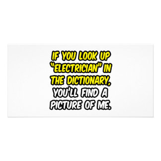 Electrician In Dictionary...My Picture Picture Card