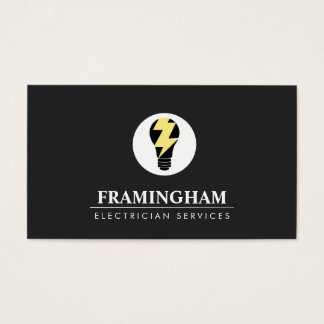 Electrician Light Bulb Logo Business Card