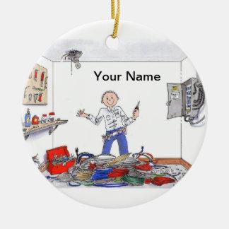 Electrician - Male Ceramic Ornament