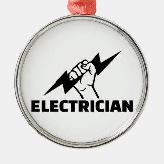 Electrician Metal Ornament