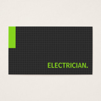 Electrician- Multiple Purpose Green Business Card