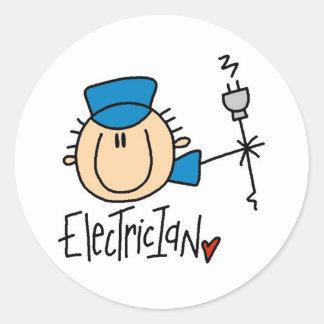 Electrician Round Sticker