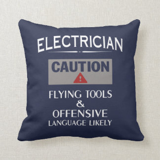 ELECTRICIAN Safety Throw Pillow