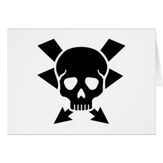 Electrician skull card