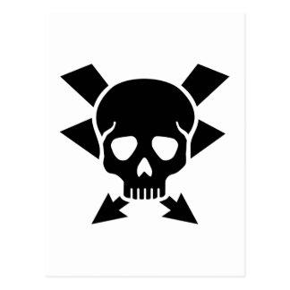 Electrician skull postcard
